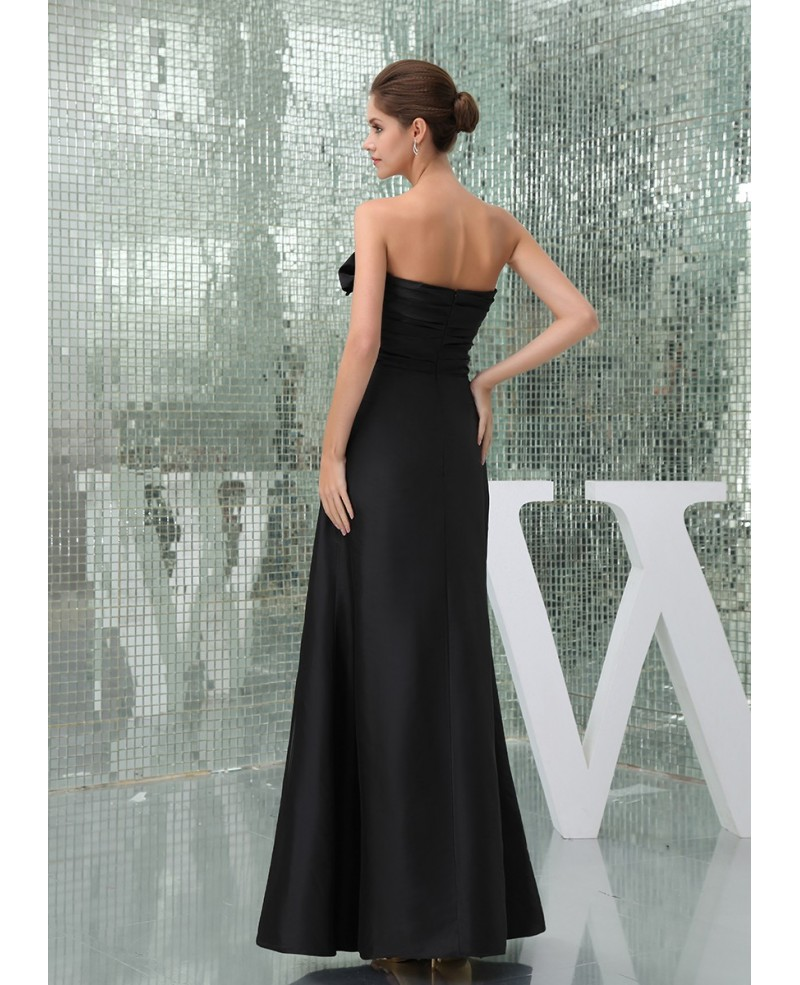 Sheath Sweetheart Ankle-length Satin Evening Dress