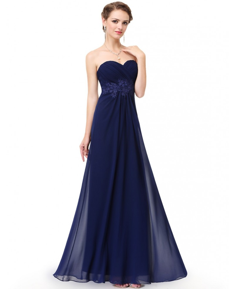 Cheap A-line Sweetheart Chiffon Floor-length Bridesmaid Dress With Lace