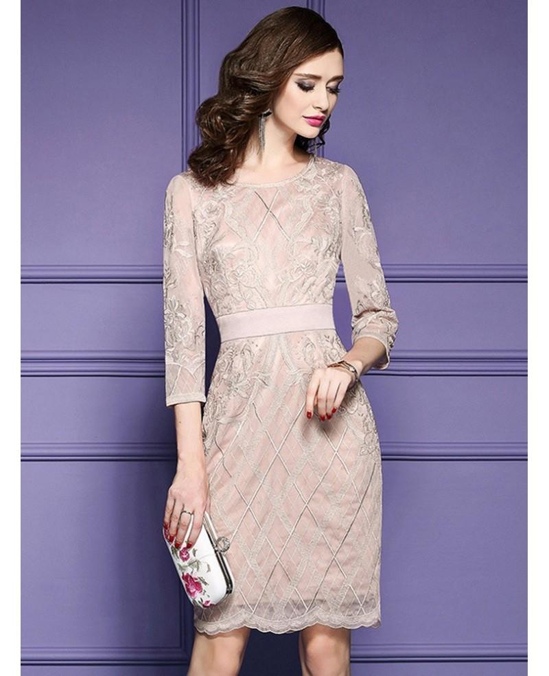 57f16d03d9 Luxe Black Lace Sleeve Short Wedding Guest Dress Black Tie For Weddings