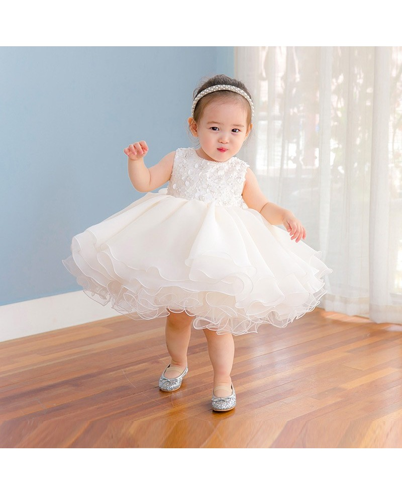 High Quality Puffy Tulle Toddler Flower Girl Dress For Weddings