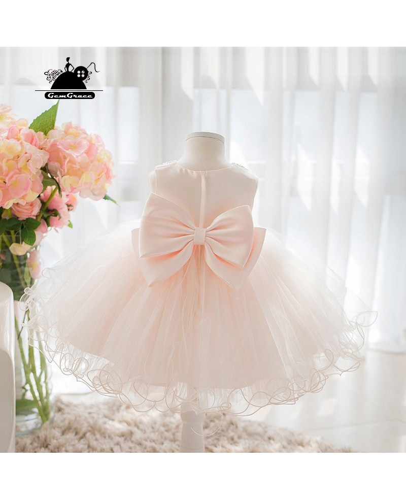 Super Cute Pink Tutu Flower Girl Dress Princess Ballgown Formal Dress