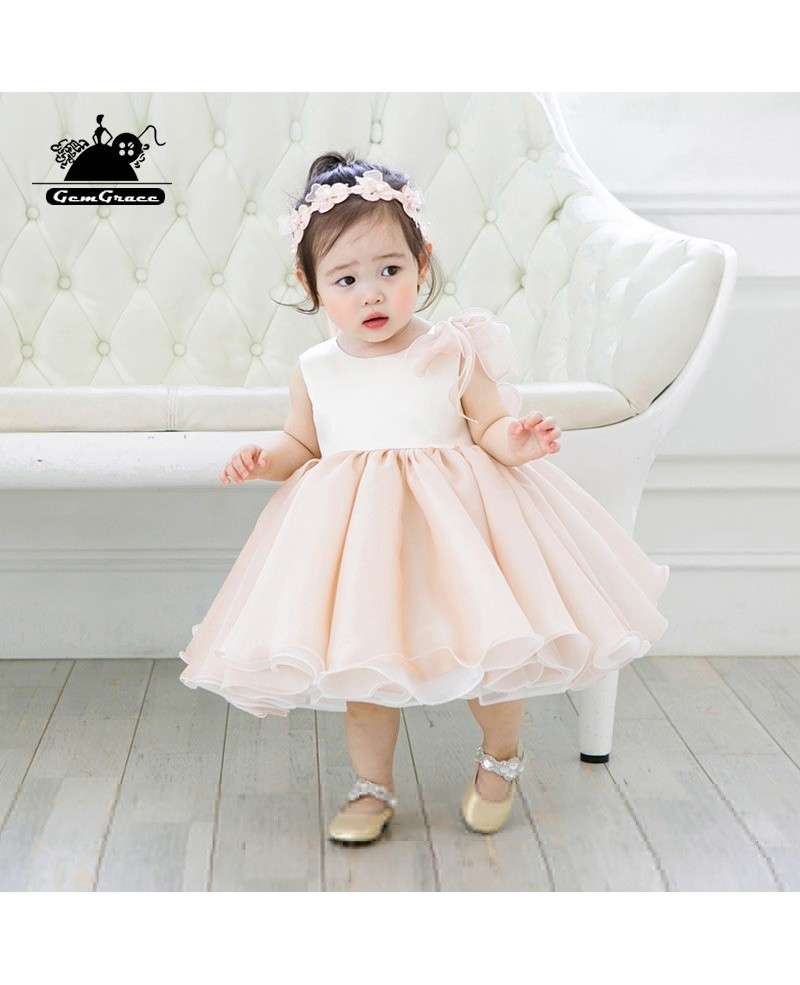 Flower girl dresses cheap gowncheap wedding gownscheap evening elegant pink puffy short flower girl dress princess pageant gown izmirmasajfo