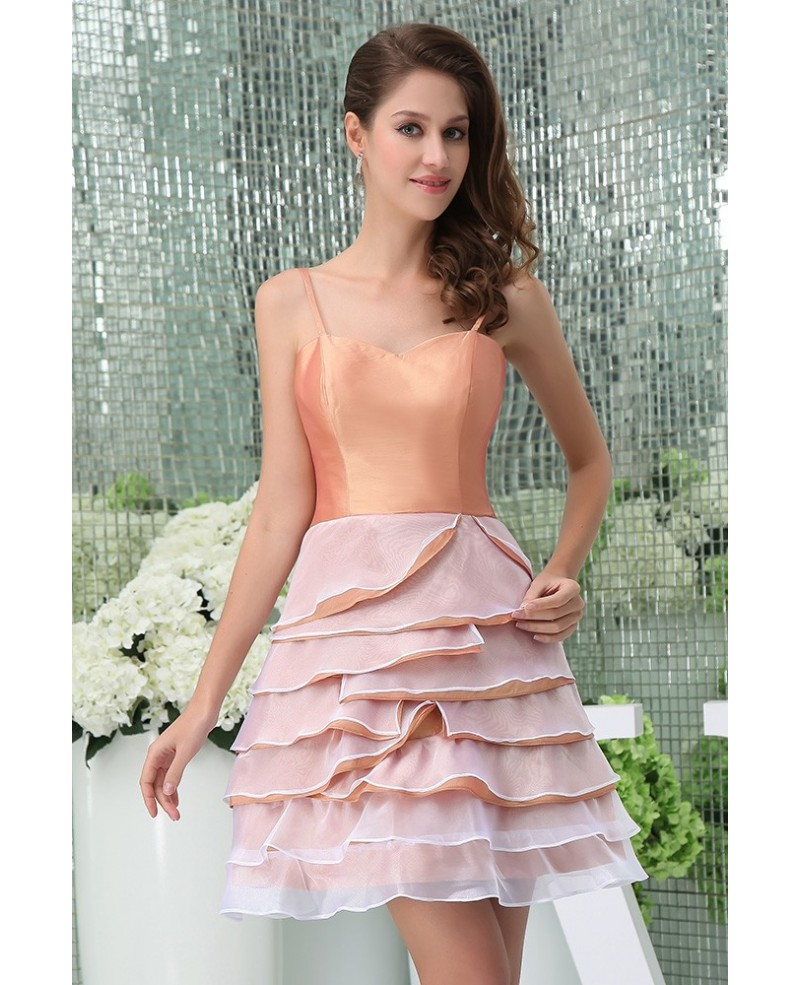 A-line Sweetheart Short Tulle Homecoming Dress With Ruffle