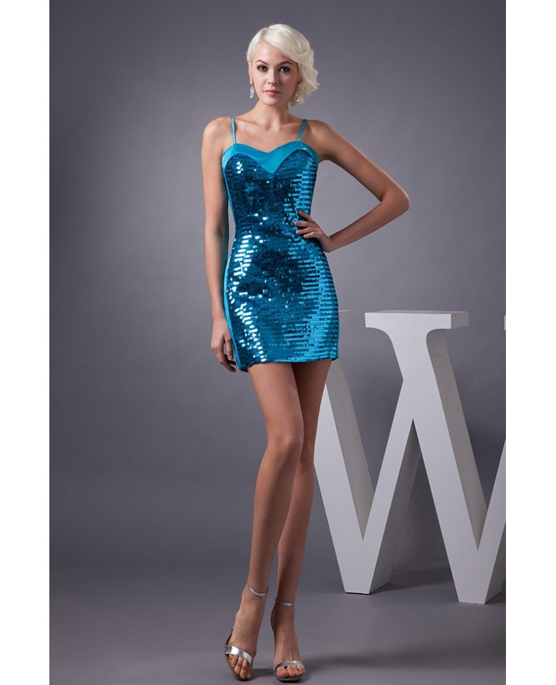 Sheath Sweetheart Short Satin Homecoming Dress