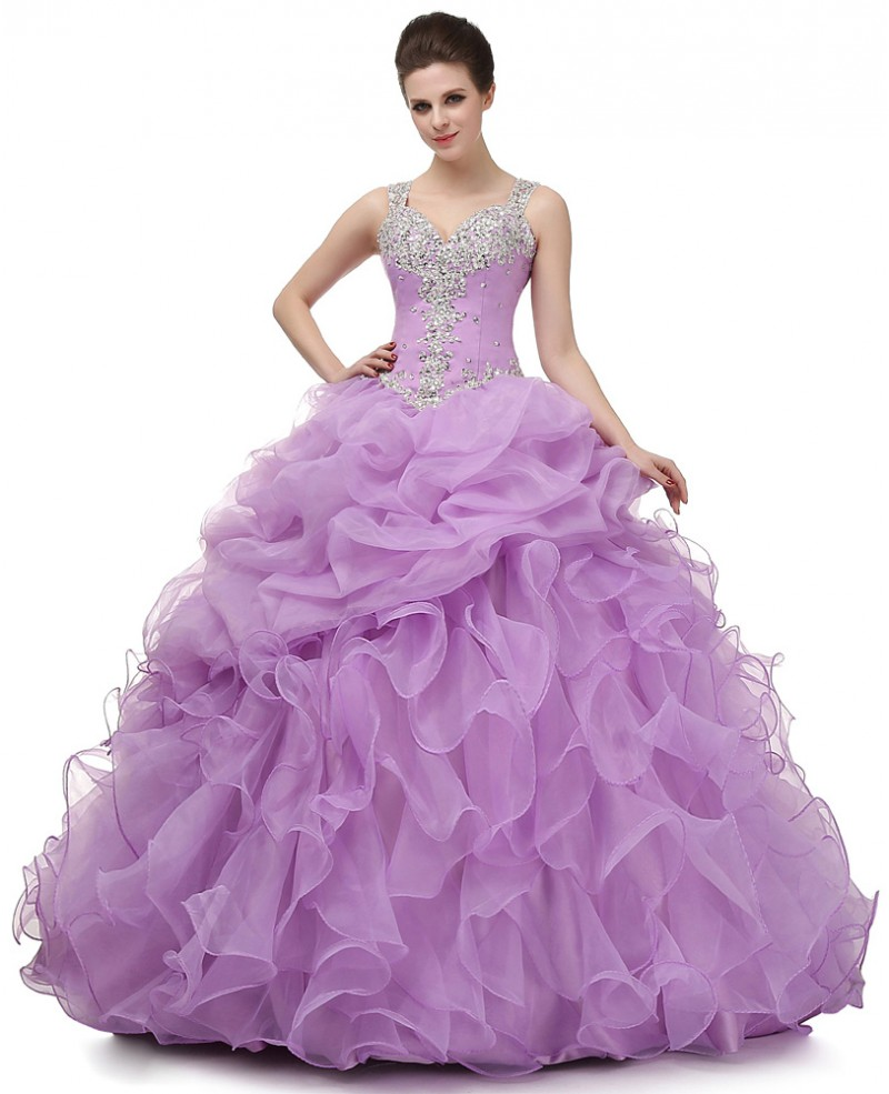 Ball-gown Sweet-heart Floor-length Prom Dress with Beading