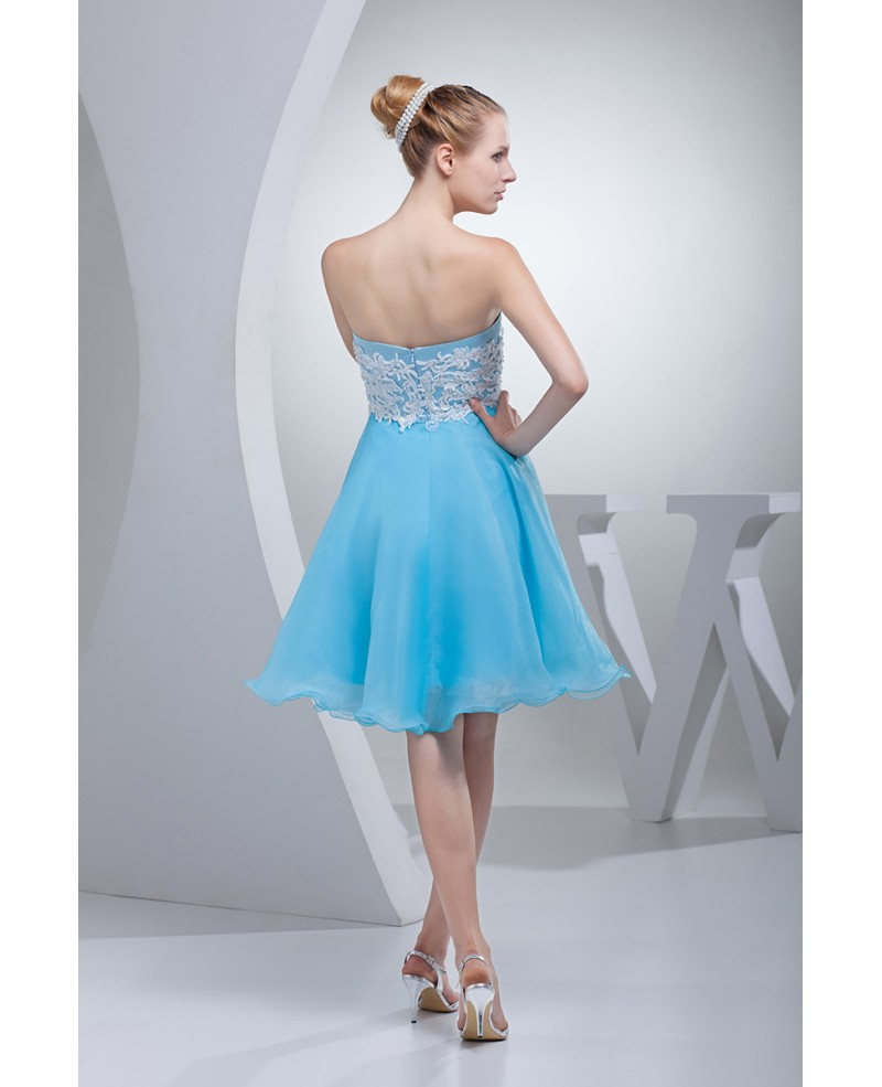 Cute Sweetheart A-line Organza Short Prom Dress