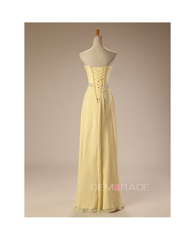 Beaded Neckline Empire Lace Chiffon Long Prom Dress Real Sample