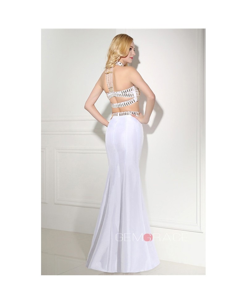 Mermaid Floor-length Prom Dress with Halter Top