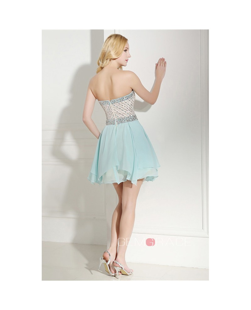 Short Sweetheart Knee-length Prom Dress