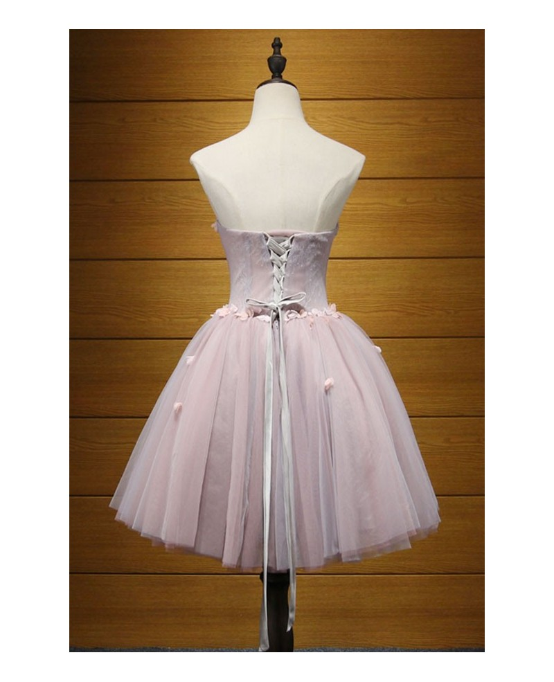 Sweet Ball-gown Sweetheart Short Tulle Homecoming Dress With Beading