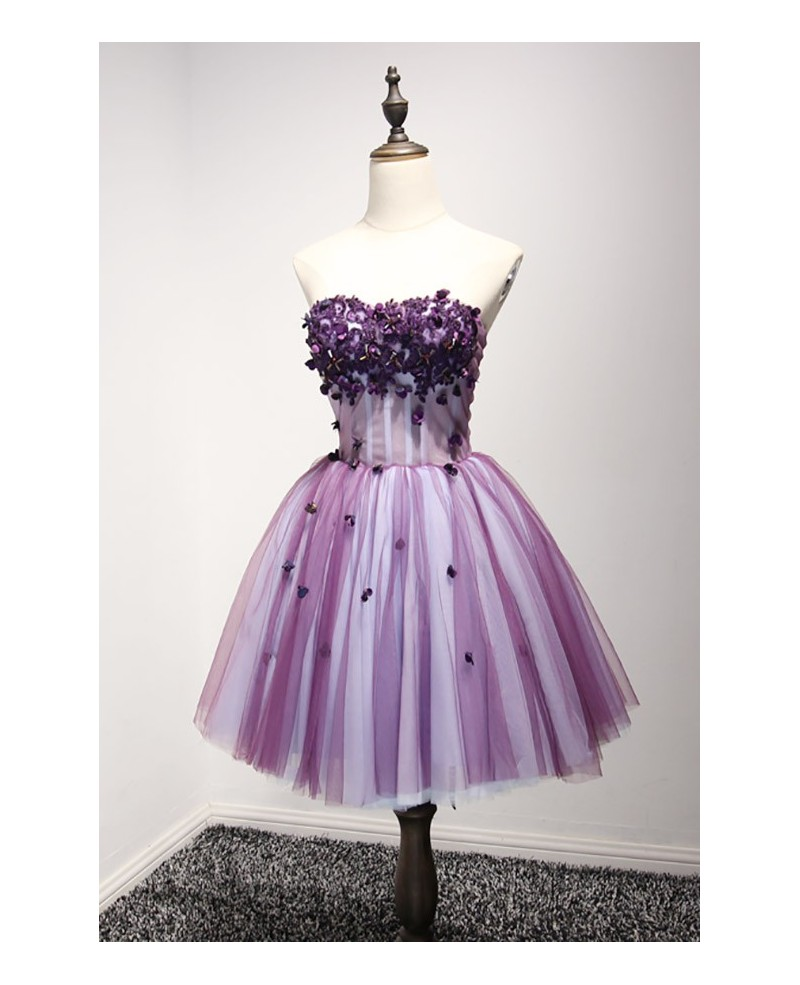 Lovely Ball-gown Sweetheart Short Tulle Homecoming Dress With Beading