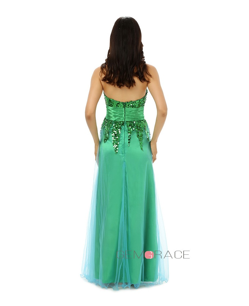 Sheath Sweetheart Sweep-length Prom Dress