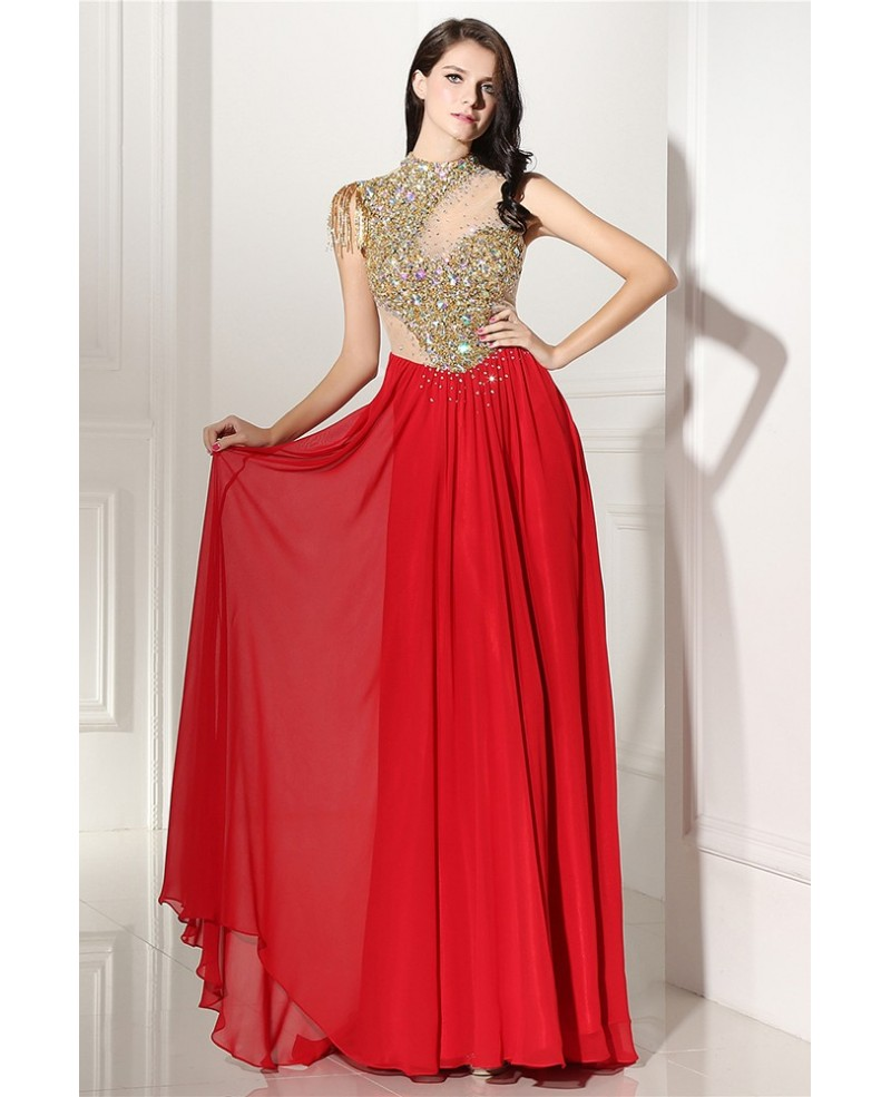 Celebrity Shinning Long Formal Party Dress