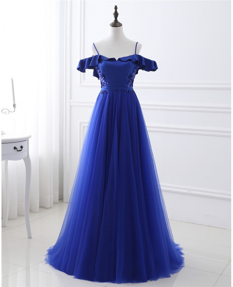 Long Tulle Prom Dress with Corset Open Back