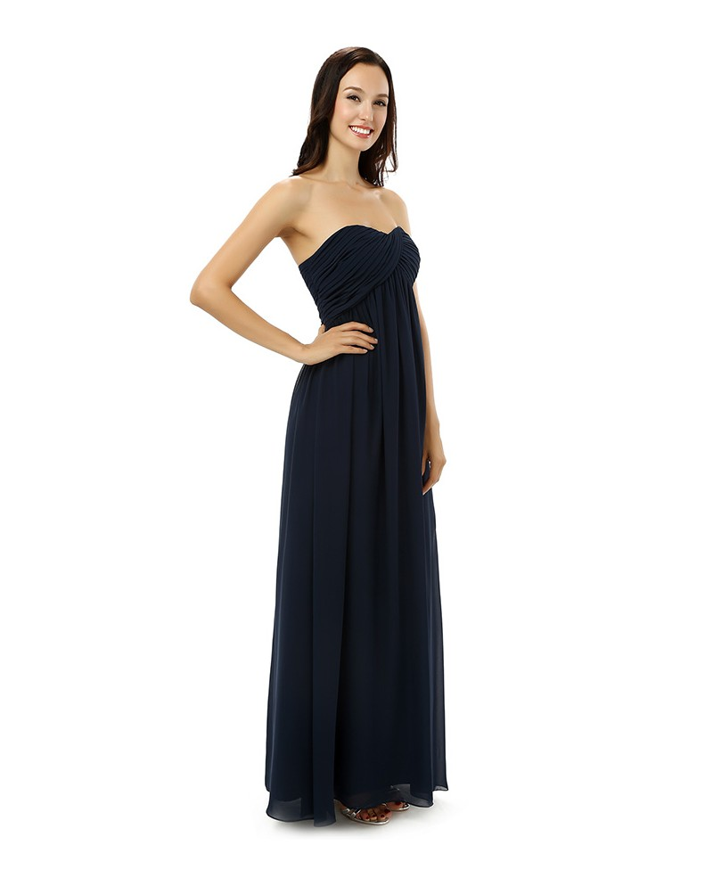 Sheath Sweetheart Floor-length Bridesmaid Dress
