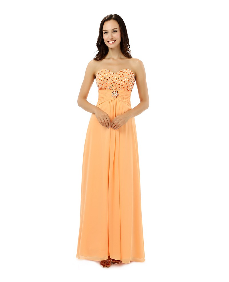 Sheath Sweetheart Floor-length Prom Dress