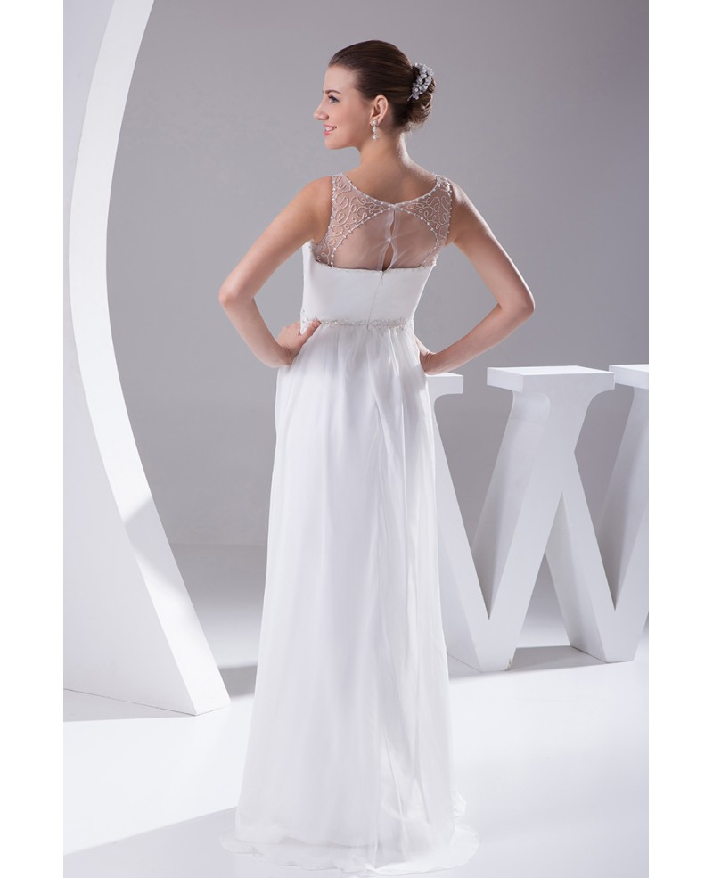 Pretty Empire Waist Long Chiffon Maternity Wedding Dress