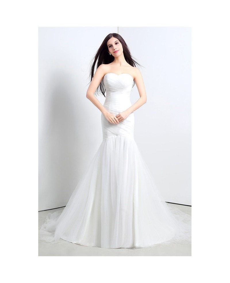 Mermaid Strapless Floor-length Wedding Dress