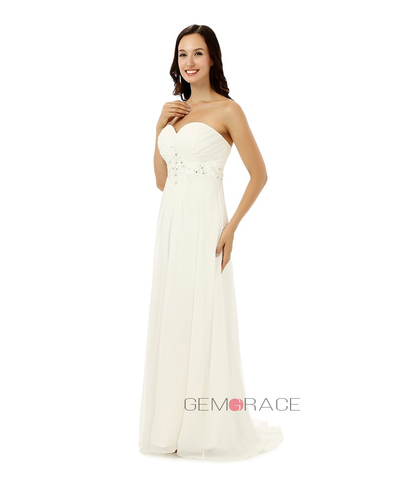 Sheath Sweetheart Floor-length Wedding Dress